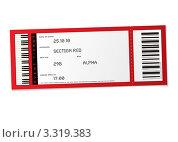 Билет на концерт со штрихкодом. Стоковая иллюстрация, иллюстратор Michael Travers / Фотобанк Лори