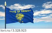 Купить «Флаг штата Орегон, США», видеоролик № 3328923, снято 8 марта 2012 г. (c) Михаил / Фотобанк Лори