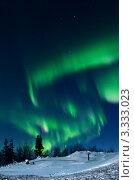 Полярное сияние в Хибинах. Стоковое фото, фотограф Надежда Щур / Фотобанк Лори
