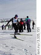 Участник Лыжни России 2012  в  г.Александров. Редакционное фото, фотограф Дмитрий Кузьмин / Фотобанк Лори