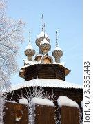 Купить «Зимний пейзаж, деревянная Церковь Собора Богородицы. Кострома. Ипатьевская слобода», фото № 3335443, снято 29 января 2010 г. (c) ElenArt / Фотобанк Лори