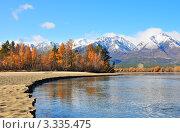 Река Баргузин, Бурятия. Стоковое фото, фотограф Сергей Лобанев / Фотобанк Лори