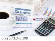 Купить «Рабочее место делового человека», фото № 3343399, снято 22 января 2012 г. (c) Воронин Владимир Сергеевич / Фотобанк Лори