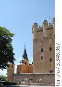 Крепость испанских королей Алькасар в исторической части города Сеговия, Испания (2010 год). Стоковое фото, фотограф Татьяна Королева / Фотобанк Лори