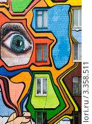 Москва. Граффити на стене дома (фрагмент) (2012 год). Редакционное фото, фотограф Зобков Георгий / Фотобанк Лори
