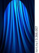 Купить «Складки синей ткани в луче света», фото № 3366007, снято 14 апреля 2011 г. (c) Elnur / Фотобанк Лори