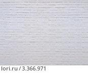 Сплошная кирпичная стена покрашенная белой краской. Стоковое фото, фотограф Константин Болотин / Фотобанк Лори
