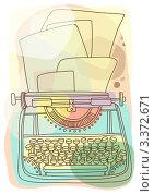 Печатная машинка. Стоковая иллюстрация, иллюстратор Войнова Елена / Фотобанк Лори