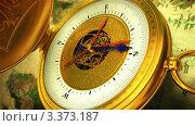 Открывающийся компас. Стоковая анимация, видеограф Перов Евгений / Фотобанк Лори