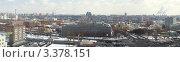 Купить «Панорама Даниловского рынка, Московского монетного двора и Даниловской площади весной», фото № 3378151, снято 25 марта 2012 г. (c) SevenOne / Фотобанк Лори
