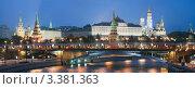 Купить «Москва. Кремль. Праздничная иллюминация», фото № 3381363, снято 18 февраля 2018 г. (c) Юрий Кирсанов / Фотобанк Лори