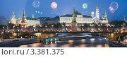 Купить «Москва. Кремль. Праздничная иллюминация. Салют», фото № 3381375, снято 23 июля 2018 г. (c) Юрий Кирсанов / Фотобанк Лори