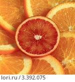 Кружок красного апельсина. Стоковое фото, фотограф Виниченко Ирина Николаевна / Фотобанк Лори