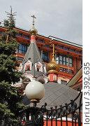 Купить «Церковь Воскресения Словущего на Арбате (Церковь Апостола Филиппа у Арбатских ворот) . Москва», эксклюзивное фото № 3392635, снято 16 апреля 2010 г. (c) lana1501 / Фотобанк Лори