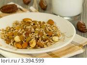 Купить «Проросшие семена пшеницы, Орехи. Йогурт.», эксклюзивное фото № 3394599, снято 21 марта 2012 г. (c) Дмитрий Бабанов / Фотобанк Лори
