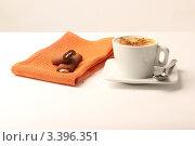 Чашка кофе и шоколадное печенье. Стоковое фото, фотограф Фролова Евгения / Фотобанк Лори