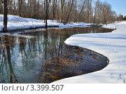 Купить «Весна на реке Скорогадайка», эксклюзивное фото № 3399507, снято 1 апреля 2012 г. (c) Елена Коромыслова / Фотобанк Лори