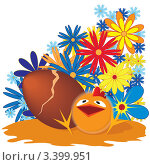 Купить «Пасхальный цыпленок», иллюстрация № 3399951 (c) Татьяна Петрова / Фотобанк Лори