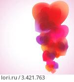 Купить «Фон с розовыми сердечками», иллюстрация № 3421763 (c) Владимир / Фотобанк Лори