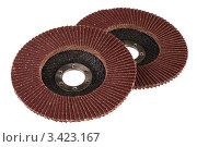 Купить «Зачистные лепестковые круги», фото № 3423167, снято 8 апреля 2012 г. (c) Игорь Веснинов / Фотобанк Лори