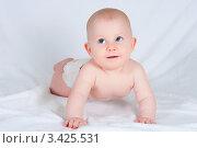 Голубоглазый малыш. Стоковое фото, фотограф Ирина Солошенко / Фотобанк Лори