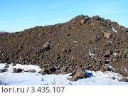 Купить «Куча черной земли», эксклюзивное фото № 3435107, снято 24 февраля 2012 г. (c) Анатолий Матвейчук / Фотобанк Лори