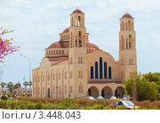 Современная церковь в Пафосе, Кипр. Стоковое фото, фотограф Миронова Евгения / Фотобанк Лори