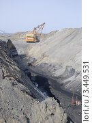 Купить «Угольный разрез», фото № 3449531, снято 2 апреля 2008 г. (c) Александр Подшивалов / Фотобанк Лори