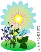 Купить «Луговые цветы», иллюстрация № 3451975 (c) Валентина Шибеко / Фотобанк Лори