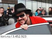 Купить «Народный артист России Филипп Киркоров», фото № 3452923, снято 20 апреля 2012 г. (c) Александр Тарасенков / Фотобанк Лори