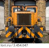 """Купить «Тепловоз """"BEWAG DL2"""" (Typ Jung RK 15 B). Выставка в локомотивном депо Шёневайде. Берлин, Германия», фото № 3454047, снято 14 апреля 2012 г. (c) Sergey Kohl / Фотобанк Лори"""