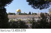 Купить «Вид на Иерусалим», видеоролик № 3459079, снято 3 марта 2012 г. (c) Павел С. / Фотобанк Лори