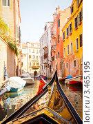 Купить «Гондола на канале в Венеции», фото № 3465195, снято 8 марта 2012 г. (c) Дмитрий Наумов / Фотобанк Лори