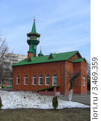 Купить «Местная религиозная организация общины мусульман «Мечеть Имама Равиля». Город Щелково, Московская область», эксклюзивное фото № 3469359, снято 16 апреля 2012 г. (c) lana1501 / Фотобанк Лори