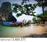 Таиланд, Краби, пляж Рейли (Railay Beach) (2012 год). Редакционное фото, фотограф Алла Корниенко / Фотобанк Лори