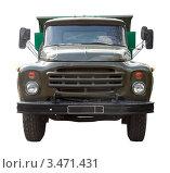 Купить «Вид спереди на старый советский грузовик», фото № 3471431, снято 23 апреля 2012 г. (c) Яков Филимонов / Фотобанк Лори