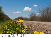 Весеннее шоссе. Стоковое фото, фотограф Михаил Бессмертный / Фотобанк Лори