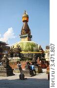 Купить «Катманду. Ступа», фото № 3471807, снято 11 апреля 2011 г. (c) Марина Рябинок / Фотобанк Лори