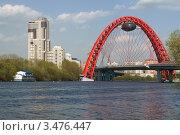 Купить «Москва-река, Живописный мост», фото № 3476447, снято 29 апреля 2012 г. (c) Валерия Попова / Фотобанк Лори