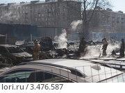 Пожар на автостоянке. Последствия (2012 год). Редакционное фото, фотограф Alexander Dmitriev / Фотобанк Лори
