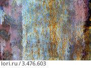 Купить «Фактура старой металлической поверхности с пятнами ржавчины», фото № 3476603, снято 26 апреля 2012 г. (c) Яков Филимонов / Фотобанк Лори