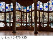 Купить «Интерьер дома Casa Batllo в Барселоне. Архитектор Антонио Гауди», фото № 3476735, снято 22 ноября 2011 г. (c) Victoria Demidova / Фотобанк Лори