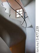 Купить «Интерьер дома Casa Batllo. Лестница выхода на крышу. Архитектор Антонио Гауди», фото № 3477239, снято 22 ноября 2011 г. (c) Victoria Demidova / Фотобанк Лори