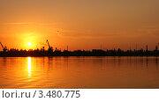 Купить «Закат на заливе», фото № 3480775, снято 19 августа 2018 г. (c) Иван Федоренко / Фотобанк Лори