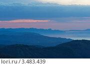 Купить «Рассвет в Крыму», эксклюзивное фото № 3483439, снято 21 апреля 2012 г. (c) Павел Широков / Фотобанк Лори