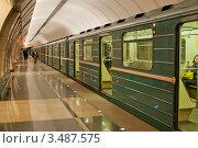 """Станция метро """"Марьина Роща"""" (2012 год). Редакционное фото, фотограф Сергей Родин / Фотобанк Лори"""