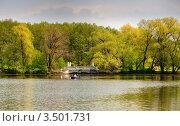 Мраморный мостик на Кратовском озере. Стоковое фото, фотограф Алексей Голованов / Фотобанк Лори