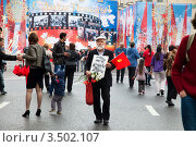 Купить «Празднично оформленная сцена на Лубянской площади в День Победы, Москва, Россия», фото № 3502107, снято 9 мая 2012 г. (c) Николай Винокуров / Фотобанк Лори
