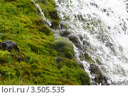 Фон водопада. Стоковое фото, фотограф Госьков Александр / Фотобанк Лори