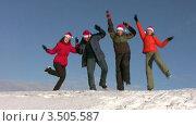 Купить «Танцующие люди зимой», видеоролик № 3505587, снято 14 июня 2008 г. (c) Losevsky Pavel / Фотобанк Лори